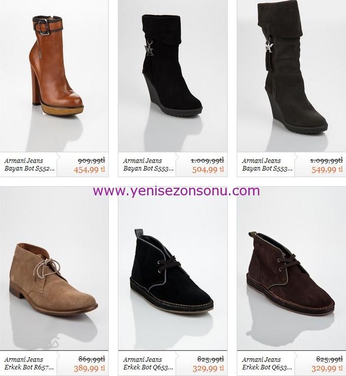 armani jeans erkek kadın botları
