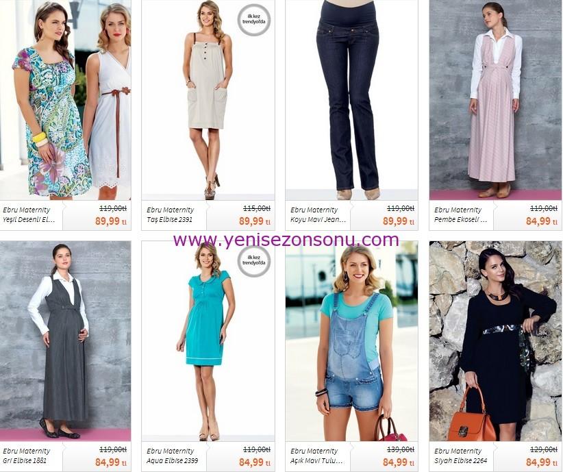 yeni sezon hamile elbiseleri 2014