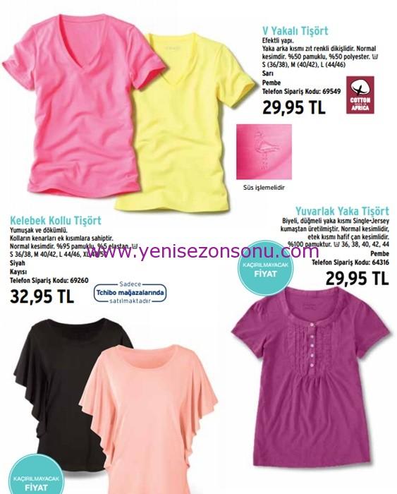 yeni sezonun moda renklerinde tişörtler