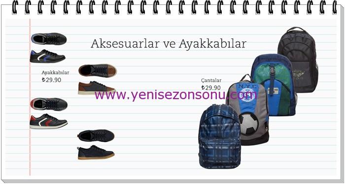LCW genç erkek çocuk okul çantaları ayakkabıları