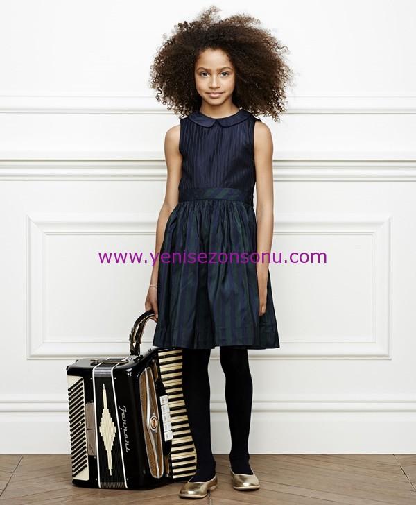 Brooks Brothers yeni sezon kız çocuk bayramlıkları giyim kıyafetleri Brooks Brothers - GD00192_NAVY_2