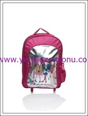 LCW kız çocuk ana okulu ilk okul sırt çantası kalemlik modelleri 015