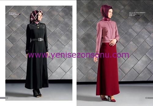 armine yeni sezon elbise pardesü eşarp modelleri 040 2015