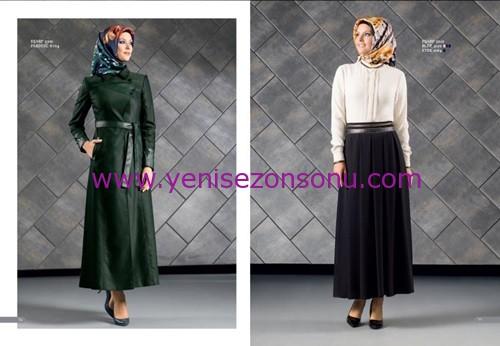 armine yeni sezon elbise pardesü eşarp modelleri 050 2015