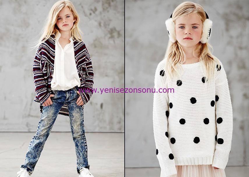 koton 2014 2015 sonbahar kış kız çocuk kıyafetleri