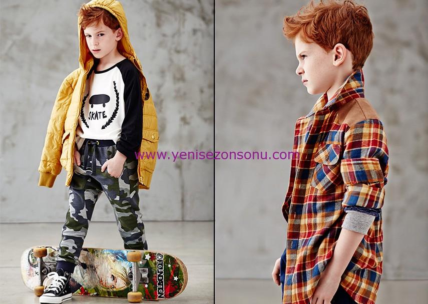 koton 2014 2015 sonbahar kışlık erkek çocuk giyim modelleri