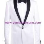 hatemoğlu siyah papyonlu beyaz damat takım elbise