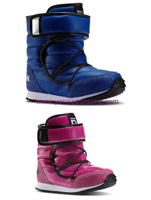 Reebok Kids kız çocuk pembe erkek çocuk mavi kar botu modelleri
