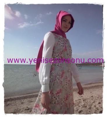 Avina Giyim 2015 Yaz Koleksiyonu 006 tesettür elbise tunik kap