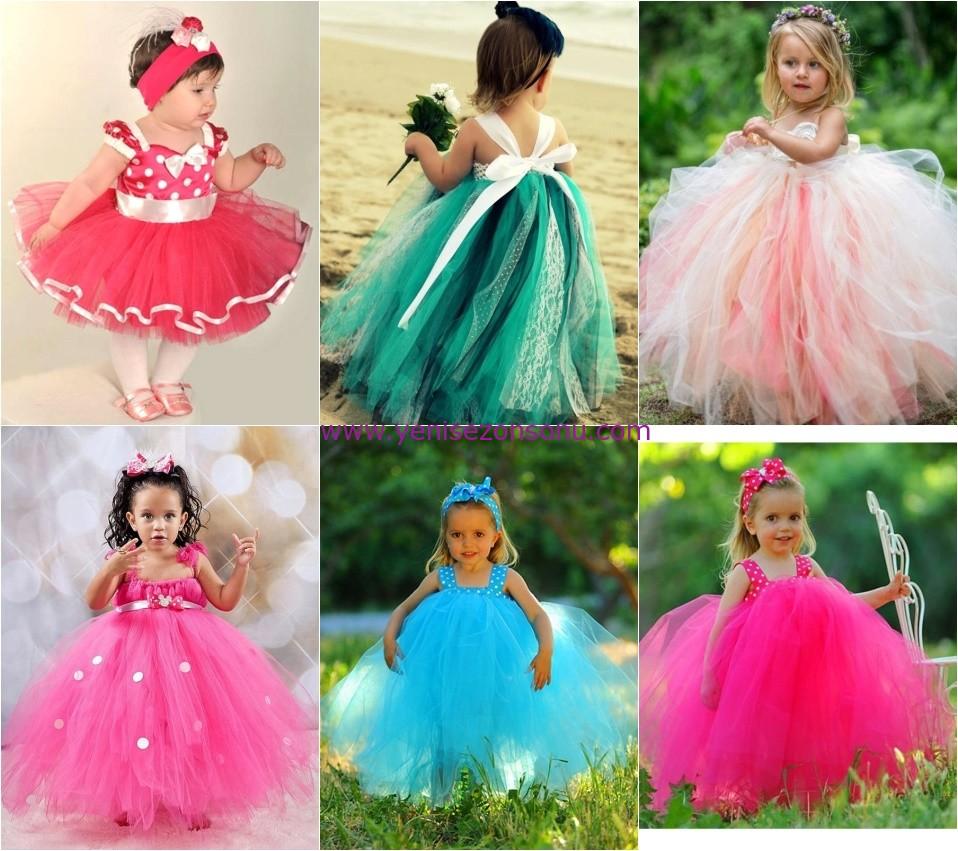 bayramlık kız bebek prenses elbise modelleri