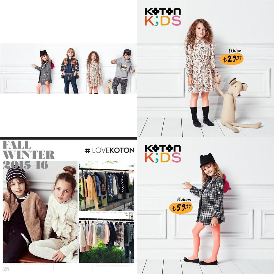Koton Kids 2015/2016 Kışlık Çocuk Giyim Modelleri ve Fiyatları