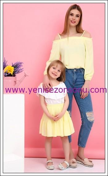 Anneler gününe özel anne kız kıyafetleri/kombinleri