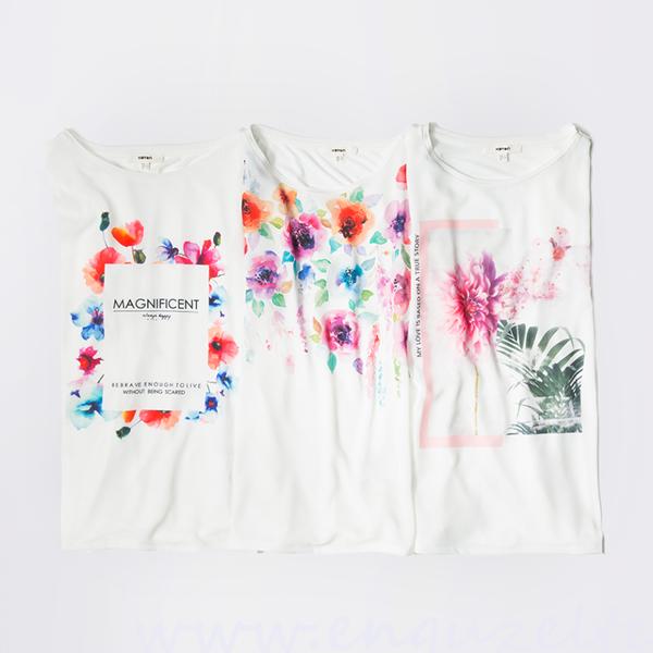 yeni sezon koton tişört modelleri